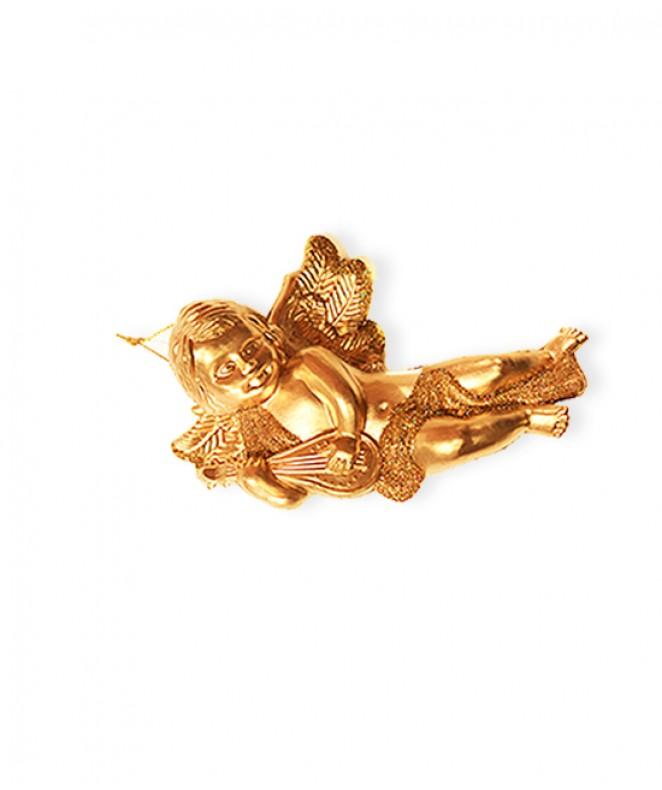 Angel c/purp 15cm con instrumento p/colgar -
