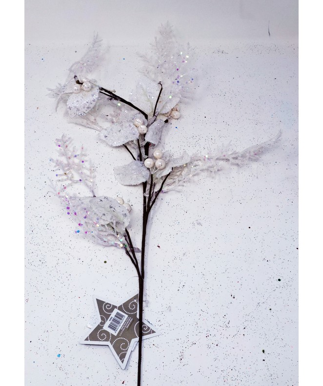 Ramita blanca en purp +hojas+pelotitas -