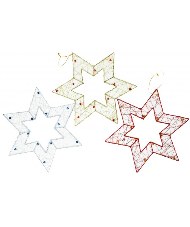Estrella 6 puntas 25cm aprox c/12 semillas -