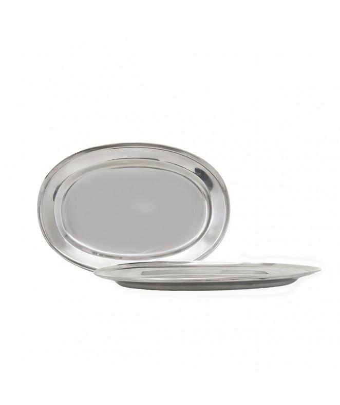 Fuente oval-rect. ac.inox. p/fiambre 30*21 cm - PARA SERVIR