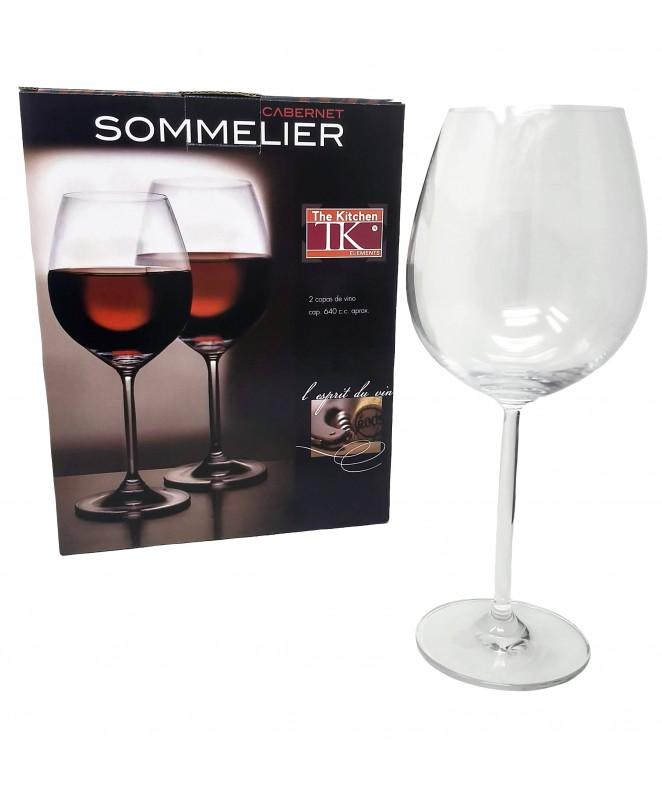 pk x2 copas de vino CABERNET 640cc aprox. - COPAS DEGUSTACION
