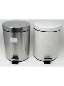 recipiente residuo acero redondo c/ pedal 3L - ACERO