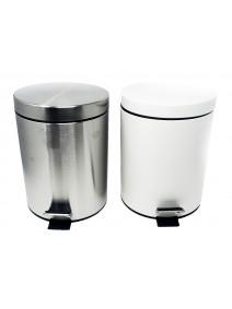 recipiente residuo acero redondo c/ pedal 5L - ACERO