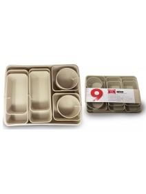 Set x9 cestas organizadoras 35*28*6cm- plastico -