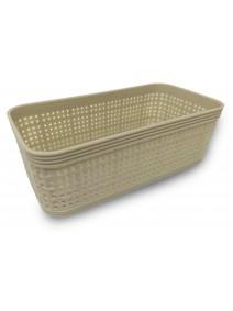 Contenedor plastico rectangular 18*10cm aprox - be -