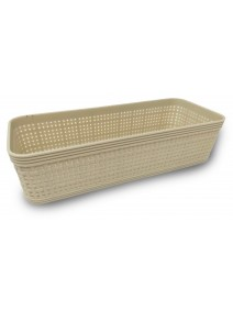 Contenedor plastico rectangular 25*10cm aprox - be -