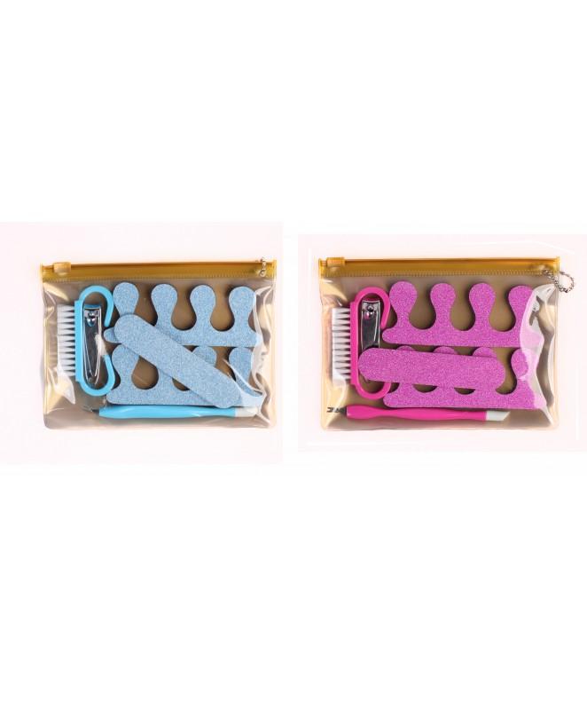 Set de pedicura: 2 separadores + lima+ alicate cep - ART. PARA PIES Y MANOS