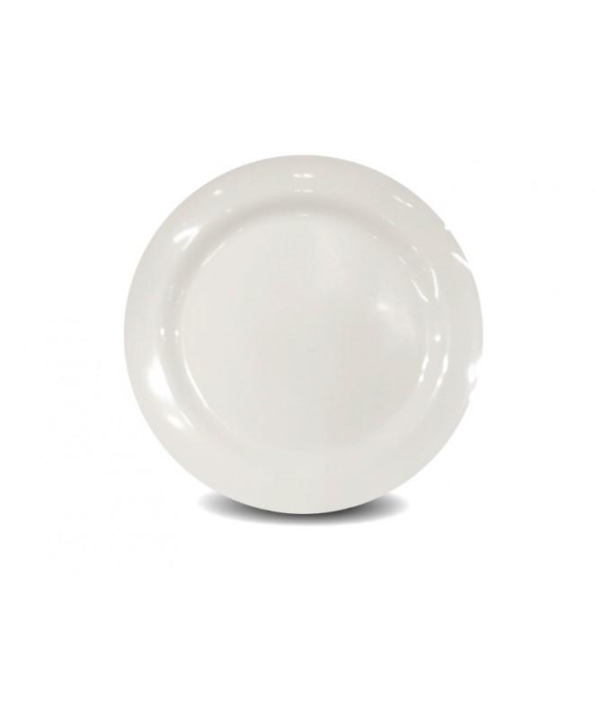 plato playo BLANCO redondo 24 cm.aprox - BLANCA