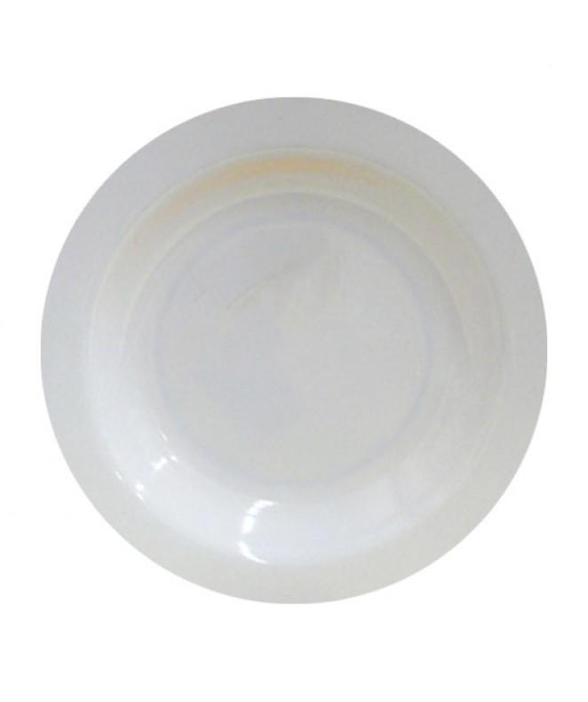 plato hondo BLANCO redondo 22.5 cm.aprox - BLANCA