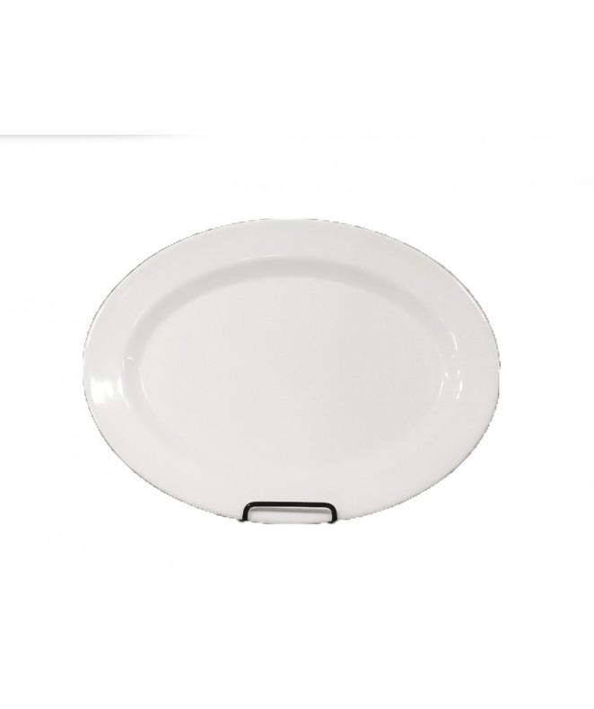 bandeja oval dec BLANCO 25 cm.aprox - MELAMINA