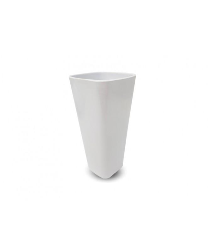 vaso cuadrado dec BLANCO 525cc aprox. - BLANCA