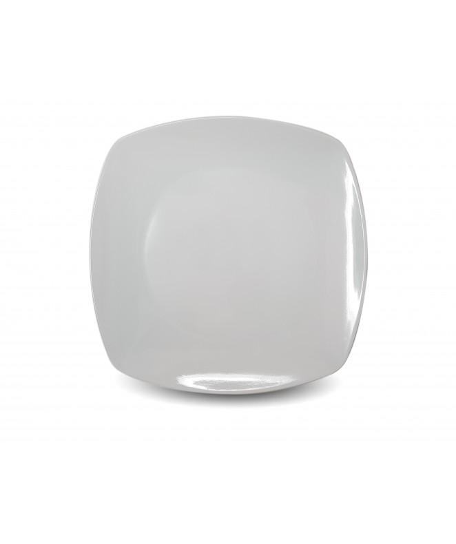 plato playo BLANCO cuadrado 22.5 cm.aprox - BLANCA