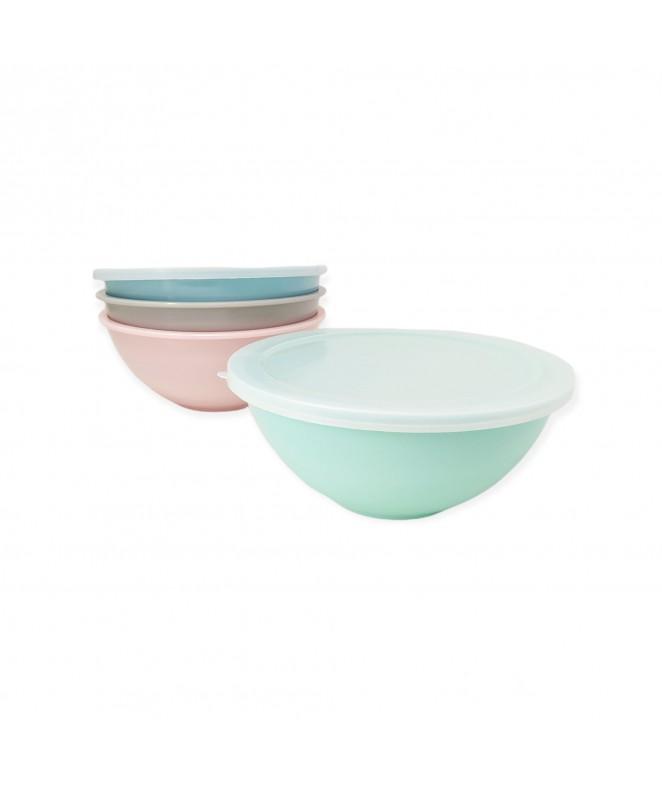 Bowl c/tapa melamina - 19.5*8cm aprox - COLORES