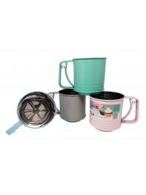 Tamizador de harina 10cm aprox - acero inox -