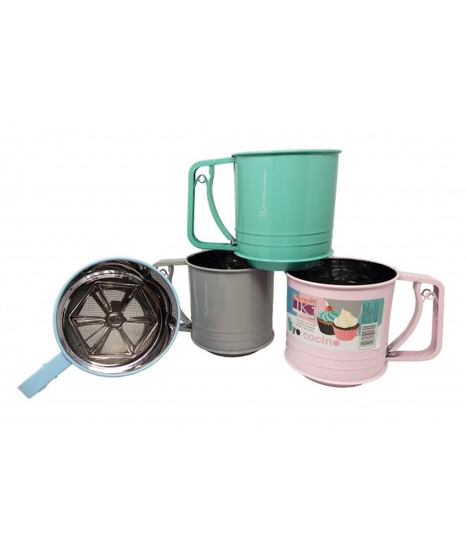 Tamizador de harina 12cm aprox - acero inox -