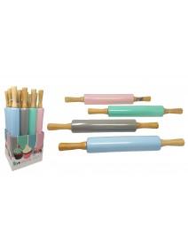 Palo p/amasar de madera c/rodillo silic- 42cm apro -