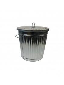 Recipiente de metal c/tapa - cap 7lt aprox - RECIPIENTES