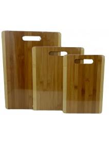 Tabla bicolor c/asa 30x20cm aprox- Bambú - MADERA