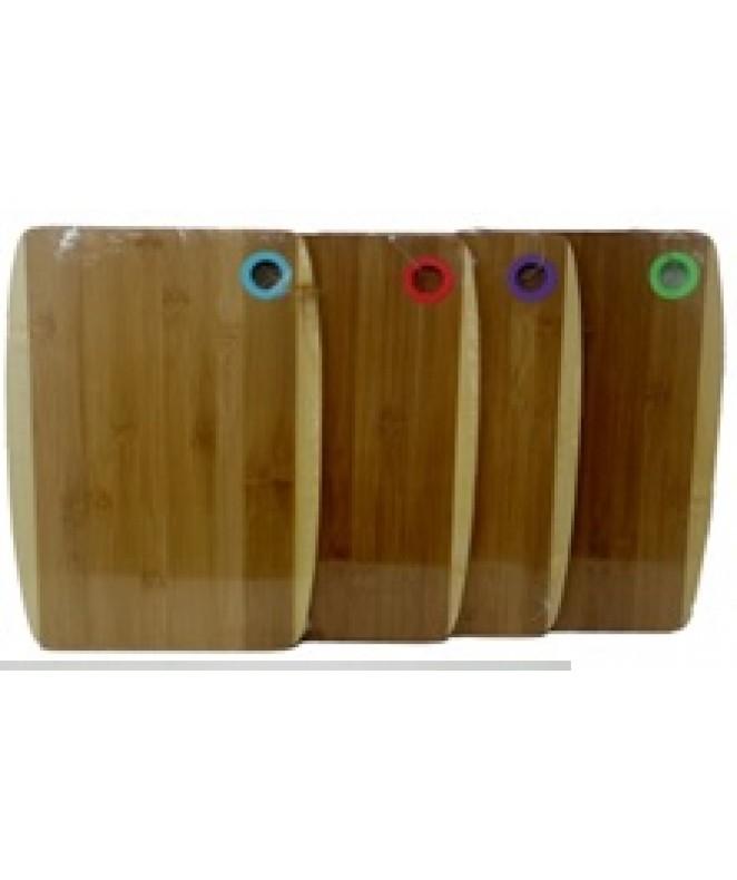Tabla bicolor c/colgador de silicona 40x28cm aprox - MADERA