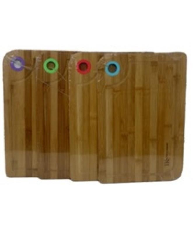 Tabla c/colgador de silicona 40x28cm aprox- Bambú - MADERA