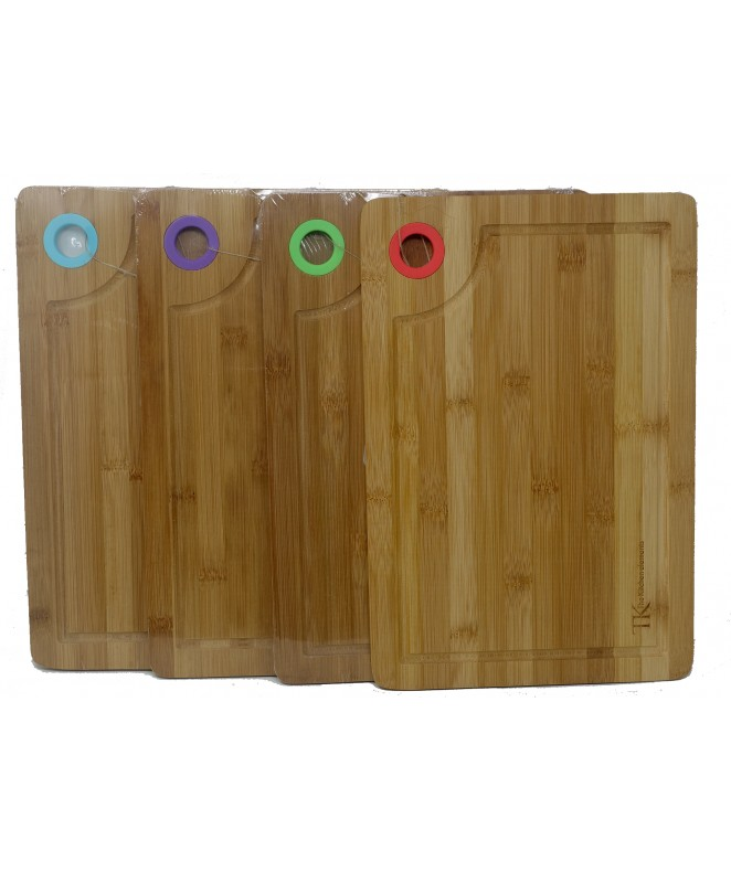 Tabla c/colgador de silicona 28x20cm aprox- Bambú - MADERA