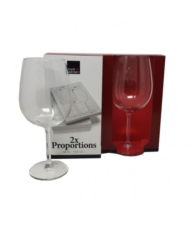 px2 copas PROPORTIONS vino 580cc aprox - COPAS DEGUSTACION