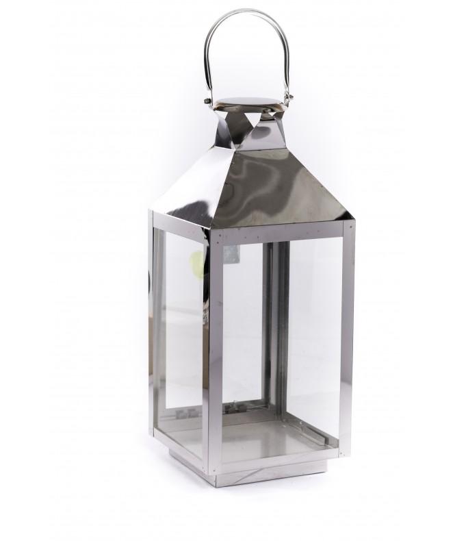 Set x2 portavelas fanal cuadr + vidrio - DE PISO